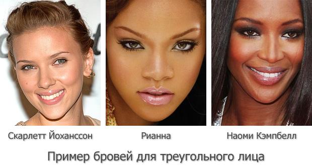 Фото - Форма бровей для треугольного лица