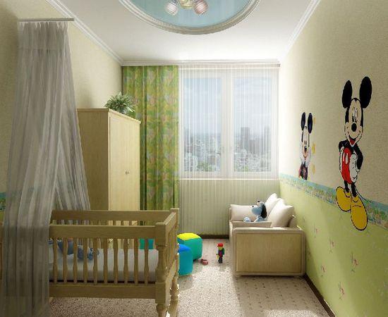 Фото - комната для младенца в зеленых тонах