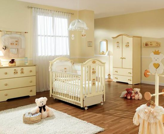 Фото - светлый дизайн комнаты для младенца