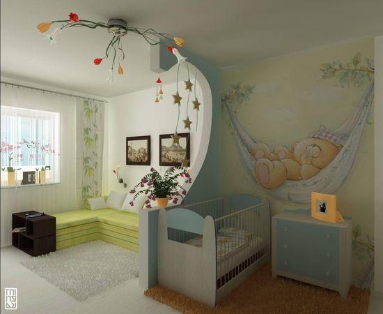 Фото - комната для младенца в нежных тонах