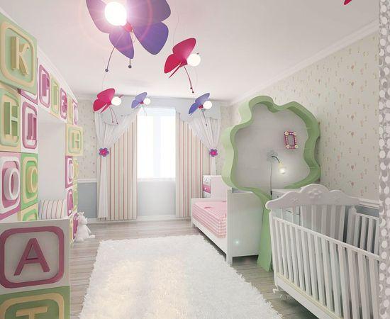Фото - светлая комната для младенца