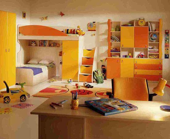 Фото - дизайн интерьера комнаты для двоих детей