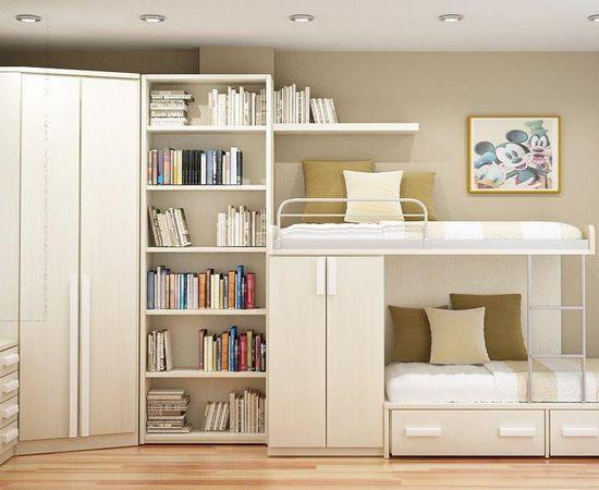 Фото - Светлый дизайн комнаты для двоих детей