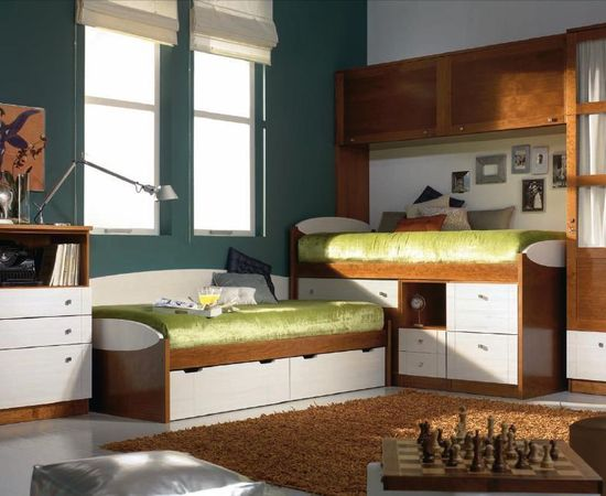Фото - красивый дизайн детской комнаты для двоих детей