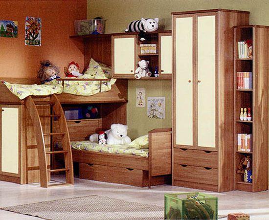 Фото - уютный интерьер комнаты для двоих детей
