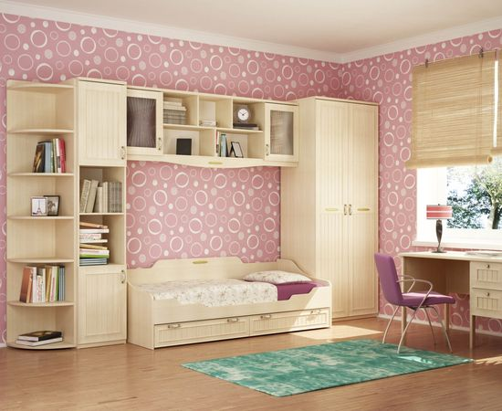 Фото - дизайн комнаты для девочки в розовых тонах