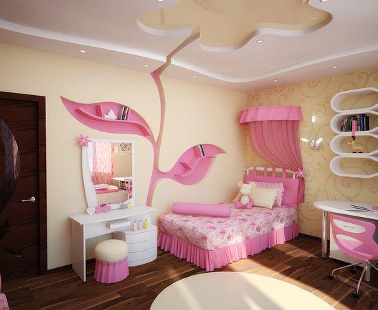 Фото - нежный дизайн интерьера комнаты для девочки