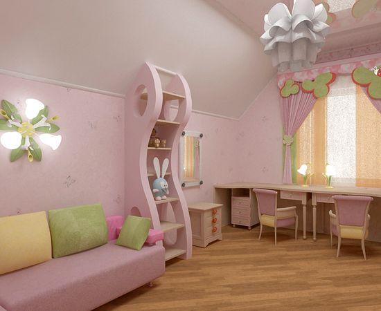 Фото - дизайн детской комнаты для девочки