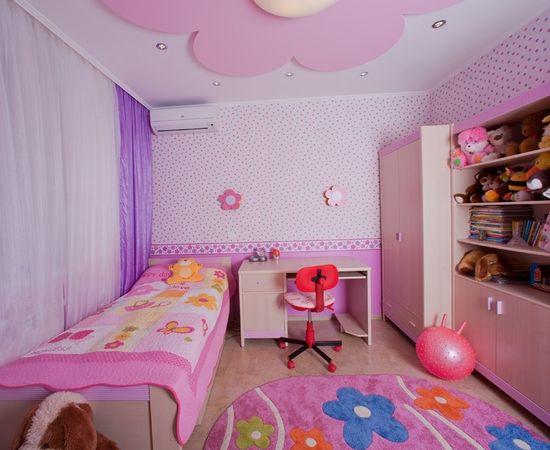 Фото - практичный дизайн интерьера комнаты для девочки