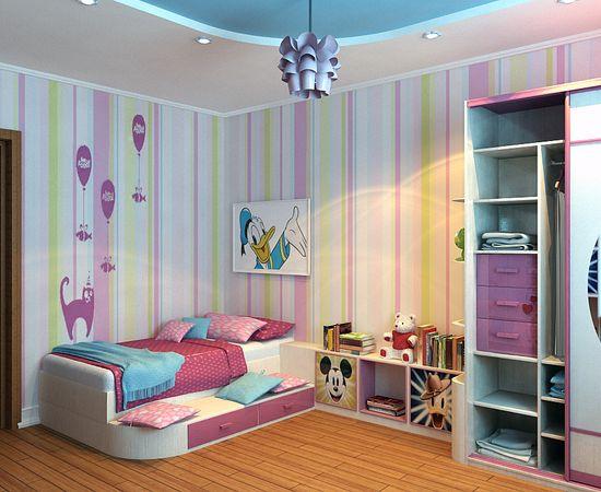 Фото - необычных дизайн детской комнаты для девочки