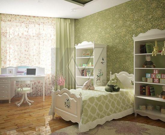 Фото - дизайн комнаты для девочки в светло-зеленых тонах