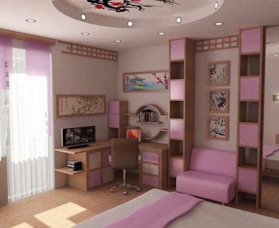 Фото - стильный дизайн детской комнаты для девочки