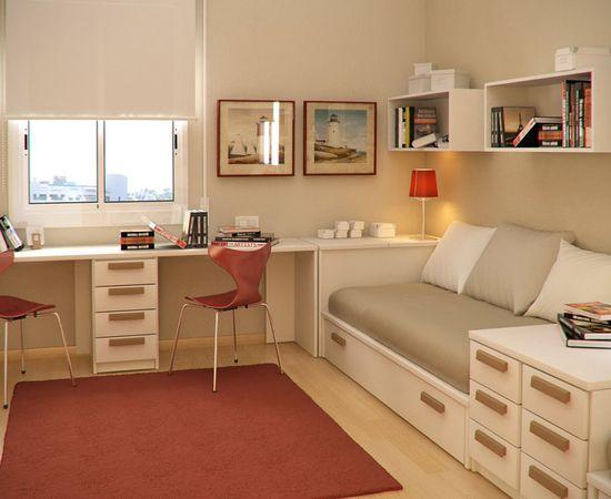 Фото - дизайн комнаты для мальчика в теплых тонах