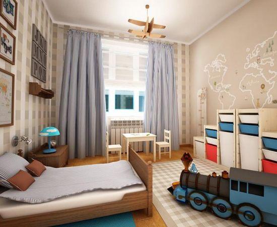 Фото - практичный дизайн интерьера комнаты для мальчика