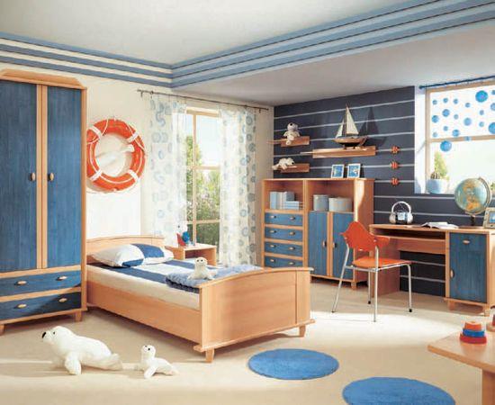 Фото - интерьер комнаты для мальчика в морском стиле