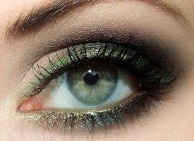 Фото - Макияж серо-зеленого глаза