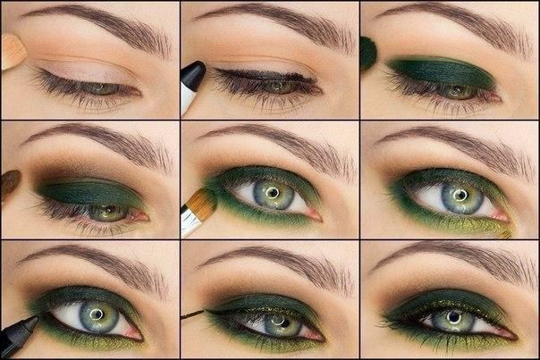 Фото - Макияж для зеленых глаз поэтапно