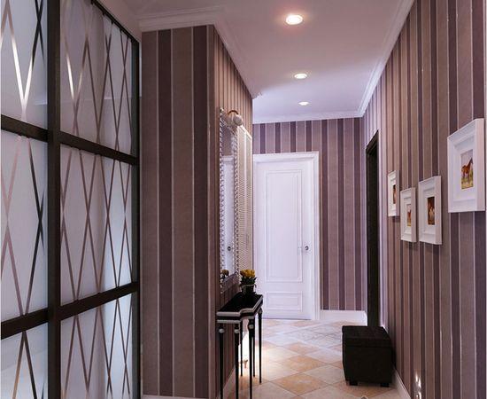Фото - полосатые обои в коридоре