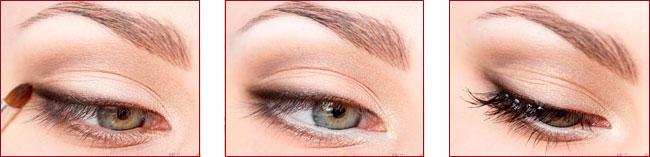 Макияж глаз с помощью карандаша и туши