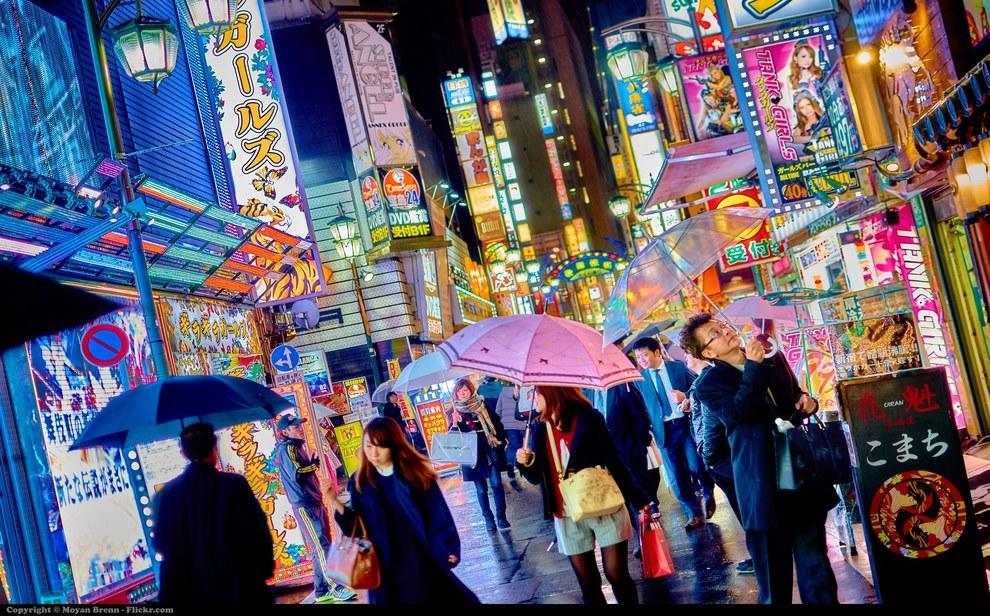Фото - Ночной город в Японии