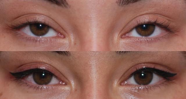 Фото - Перманентный макияж глаз до и после