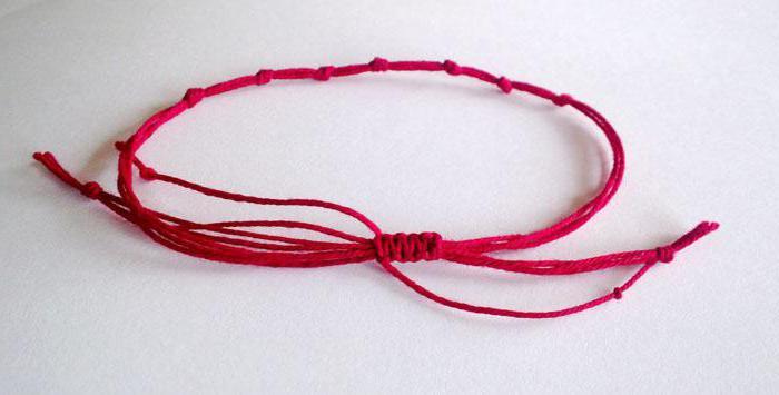 Красная нить для ребенка своими руками 74
