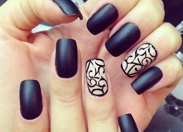 Фото - Матовый лак на ногтях