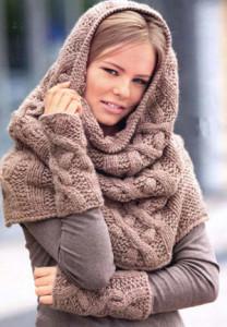 Фото - Шапка-шарф