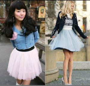 Фото - Балетная юбка с кожаной и джинсовой курткой