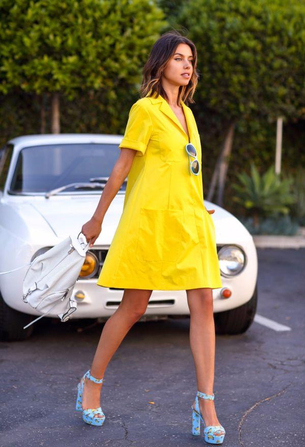 Фото - Девушка в желтом платье