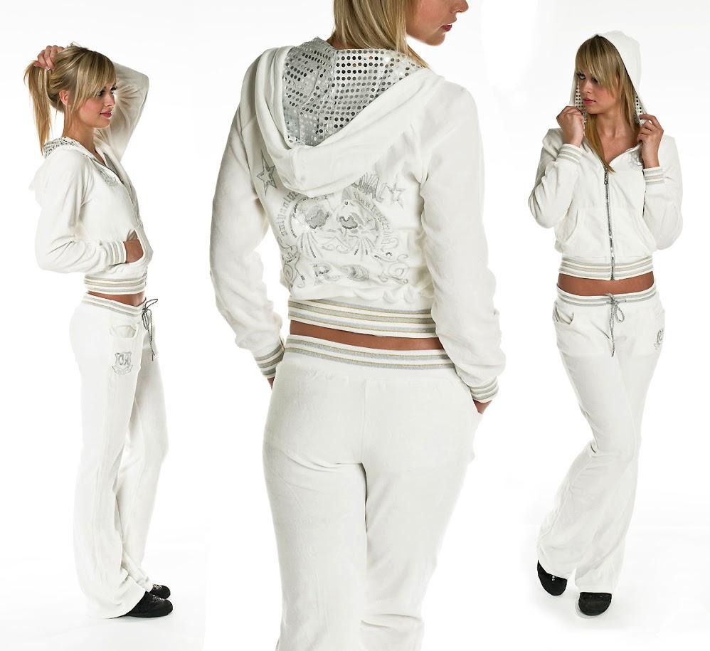 Белые костюмы спортивные со стразами