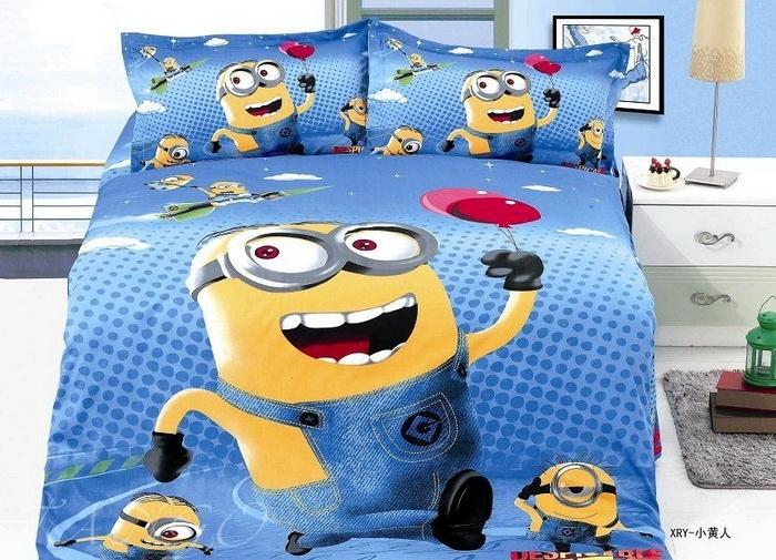 Детское постельное белье с миньонами