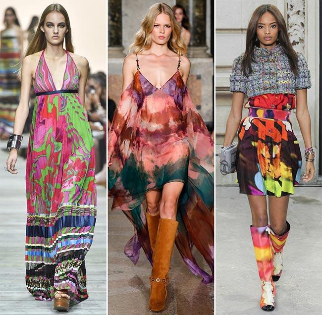 Фото - Модные весенне-летние платья яркой окраски