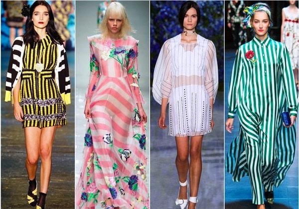 Фото - Платья с полосками, диагоналями и клетками