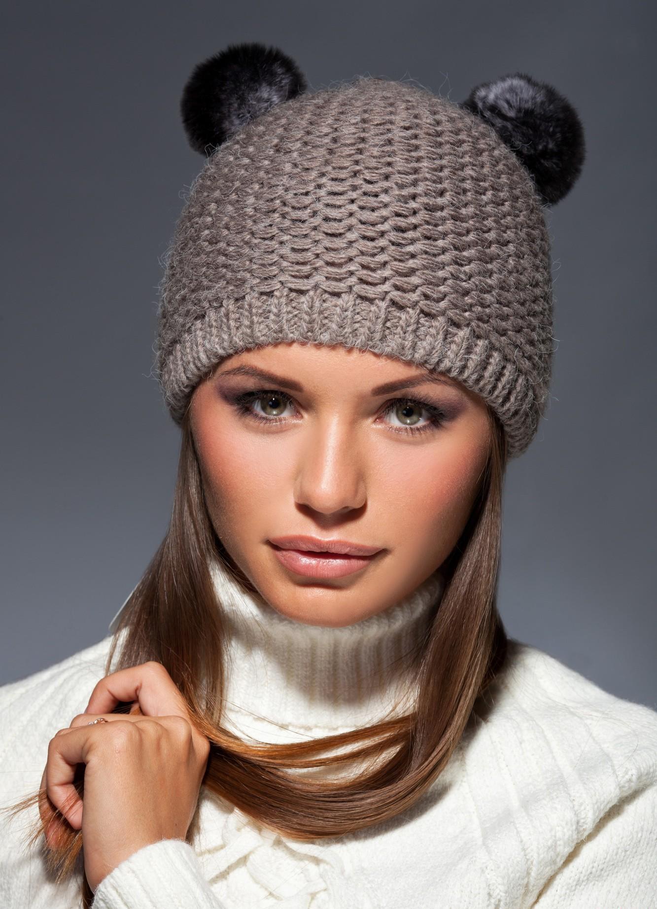 Женские шапки с ушками
