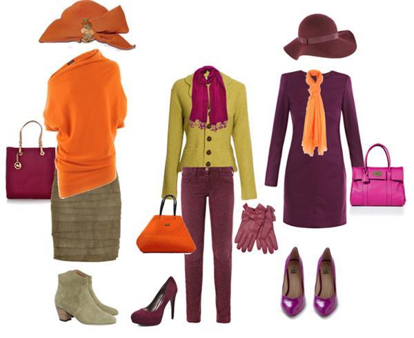 Оттенки в одежде и аксессуарах